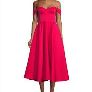 NWT Jay Godfrey midi off the shoulder dress size 0
